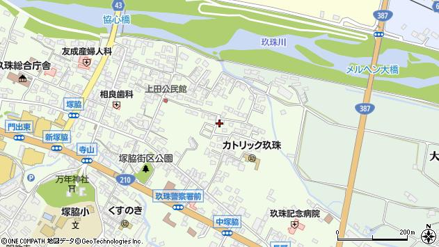 大分県玖珠郡玖珠町塚脇407周辺の地図
