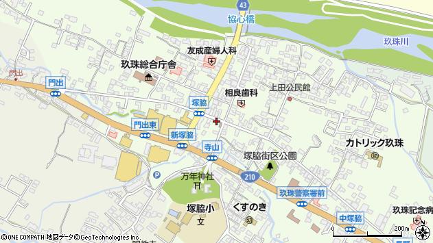 大分県玖珠郡玖珠町塚脇313周辺の地図