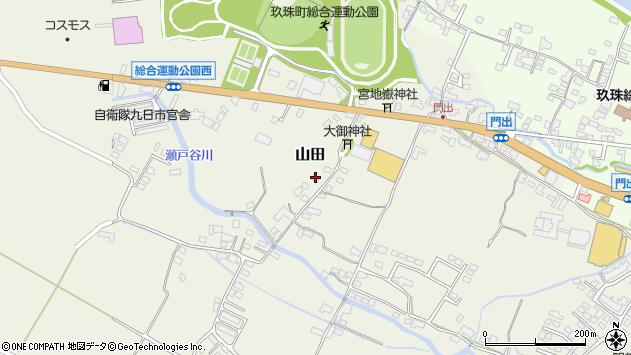 大分県玖珠郡玖珠町山田171周辺の地図