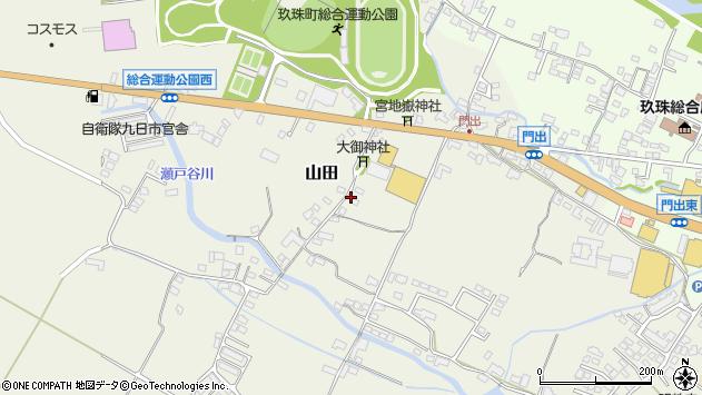 大分県玖珠郡玖珠町山田152周辺の地図