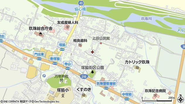 大分県玖珠郡玖珠町塚脇370周辺の地図