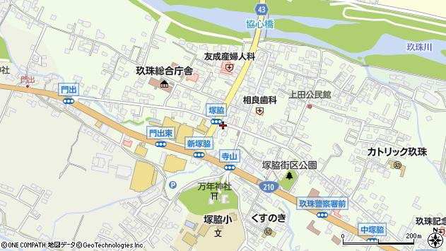 大分県玖珠郡玖珠町塚脇311周辺の地図