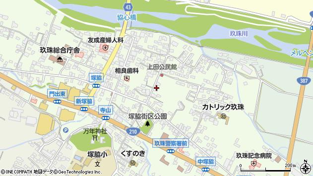 大分県玖珠郡玖珠町塚脇372周辺の地図