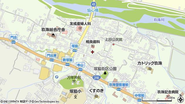 大分県玖珠郡玖珠町塚脇300周辺の地図