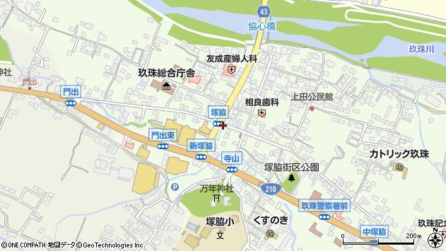 大分県玖珠郡玖珠町塚脇310周辺の地図
