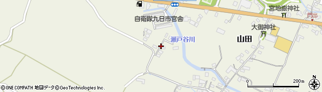 大分県玖珠郡玖珠町山田2283周辺の地図