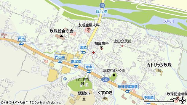 大分県玖珠郡玖珠町塚脇314周辺の地図