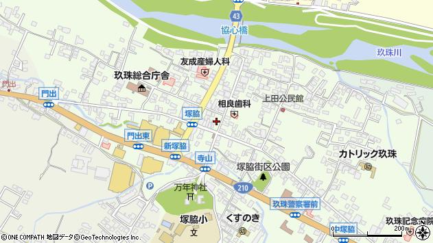 大分県玖珠郡玖珠町塚脇496周辺の地図