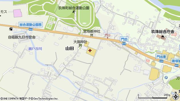 大分県玖珠郡玖珠町山田147周辺の地図