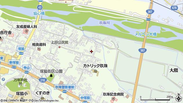 大分県玖珠郡玖珠町塚脇411周辺の地図