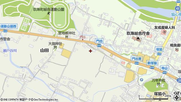 大分県玖珠郡玖珠町山田270周辺の地図
