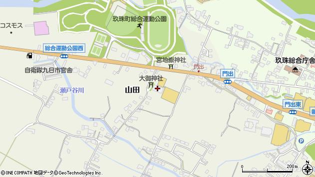 大分県玖珠郡玖珠町山田156周辺の地図