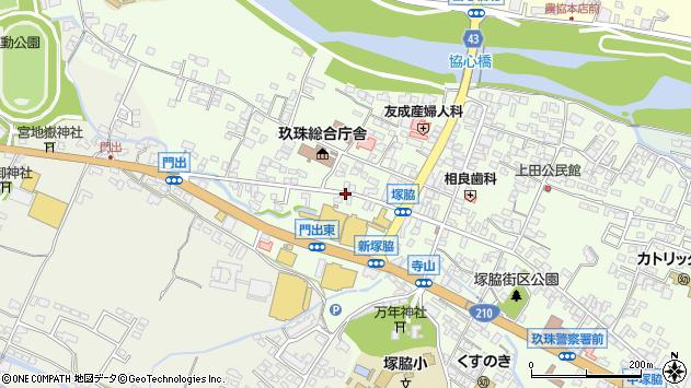 大分県玖珠郡玖珠町塚脇136周辺の地図