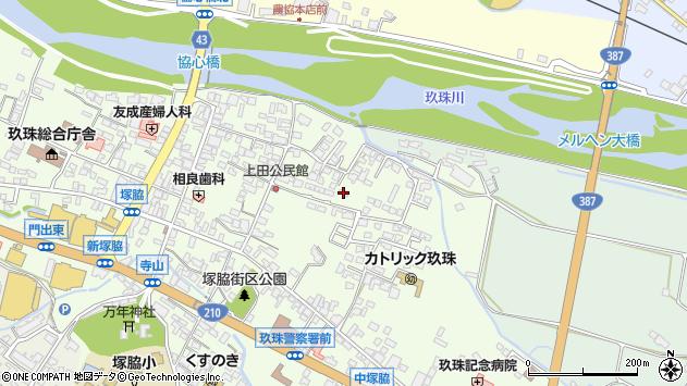 大分県玖珠郡玖珠町塚脇398周辺の地図