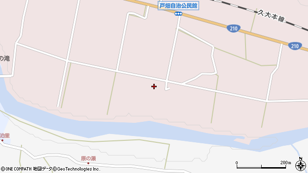 大分県玖珠郡玖珠町戸畑1139周辺の地図