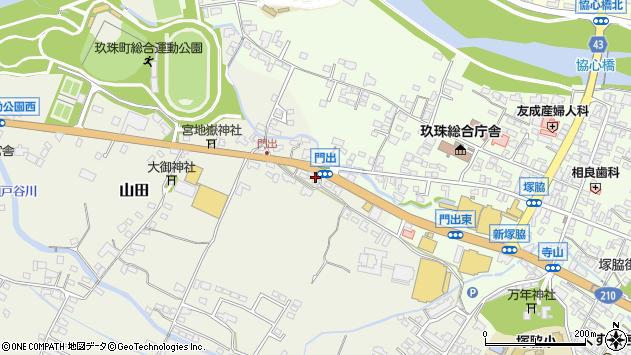 大分県玖珠郡玖珠町山田286周辺の地図