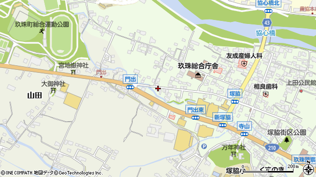 大分県玖珠郡玖珠町塚脇158周辺の地図