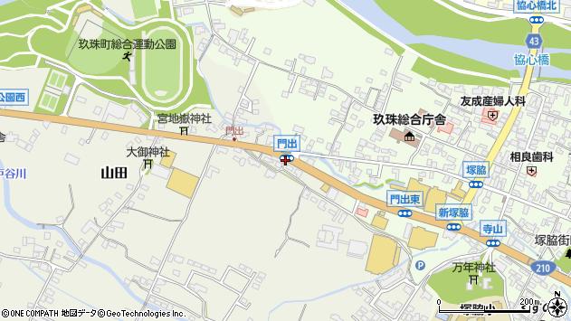 大分県玖珠郡玖珠町山田287周辺の地図