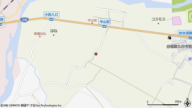 大分県玖珠郡玖珠町山田2462周辺の地図