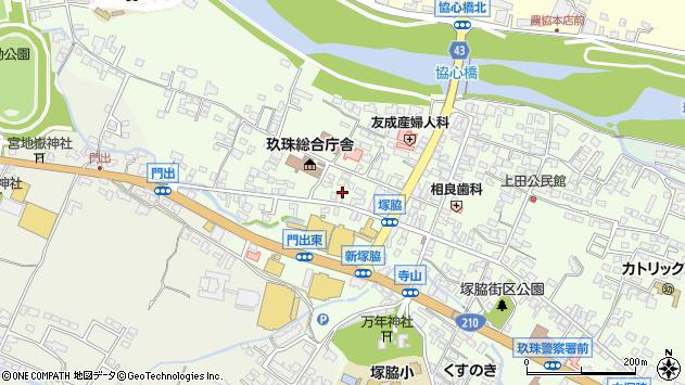 大分県玖珠郡玖珠町塚脇133周辺の地図