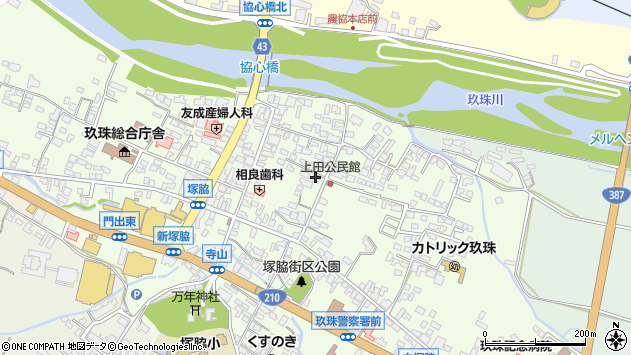 大分県玖珠郡玖珠町塚脇367周辺の地図