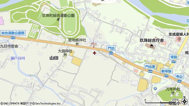 大分県玖珠郡玖珠町山田274周辺の地図