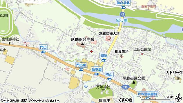 大分県玖珠郡玖珠町塚脇住吉町周辺の地図