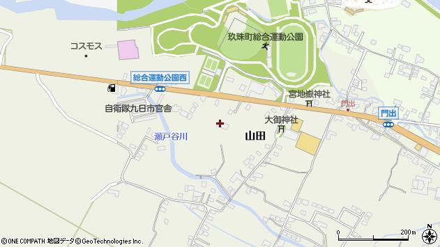 大分県玖珠郡玖珠町山田178周辺の地図
