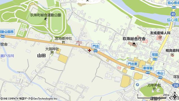 大分県玖珠郡玖珠町山田285周辺の地図