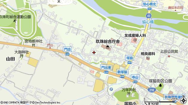 大分県玖珠郡玖珠町塚脇155周辺の地図