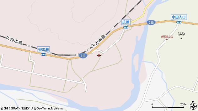 大分県玖珠郡玖珠町戸畑82周辺の地図