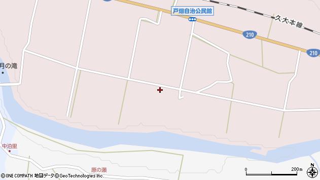 大分県玖珠郡玖珠町戸畑1113周辺の地図