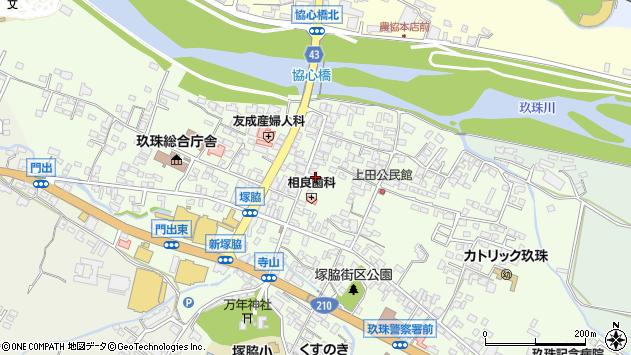 大分県玖珠郡玖珠町塚脇本町周辺の地図