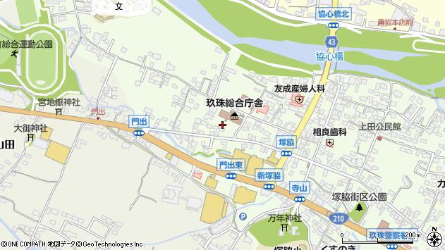 大分県玖珠郡玖珠町塚脇139周辺の地図