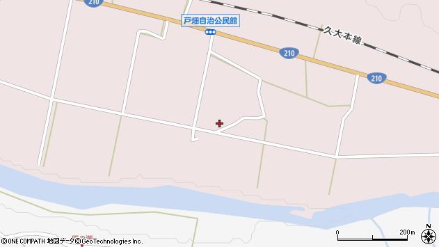 大分県玖珠郡玖珠町戸畑1057周辺の地図