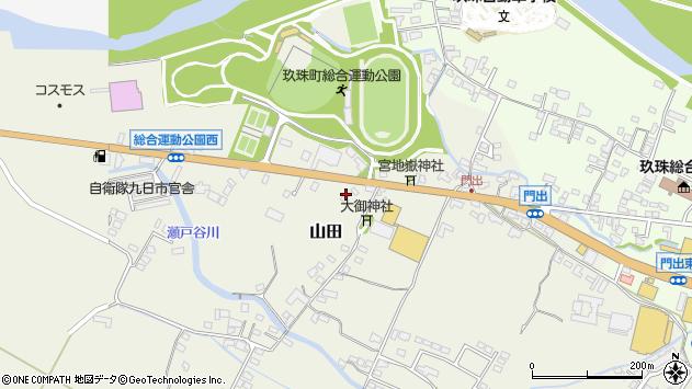大分県玖珠郡玖珠町山田163周辺の地図