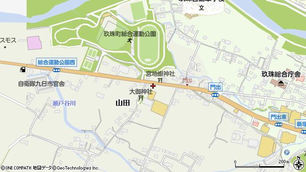 大分県玖珠郡玖珠町山田158周辺の地図