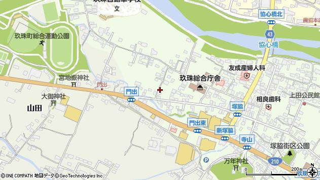 大分県玖珠郡玖珠町塚脇156周辺の地図