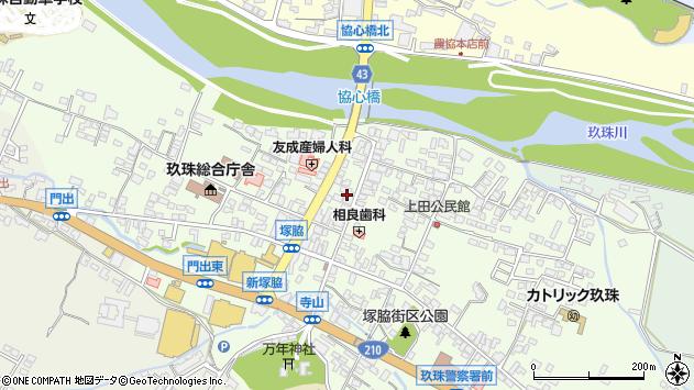 大分県玖珠郡玖珠町塚脇3周辺の地図