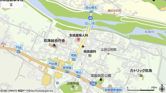 大分県玖珠郡玖珠町塚脇326周辺の地図