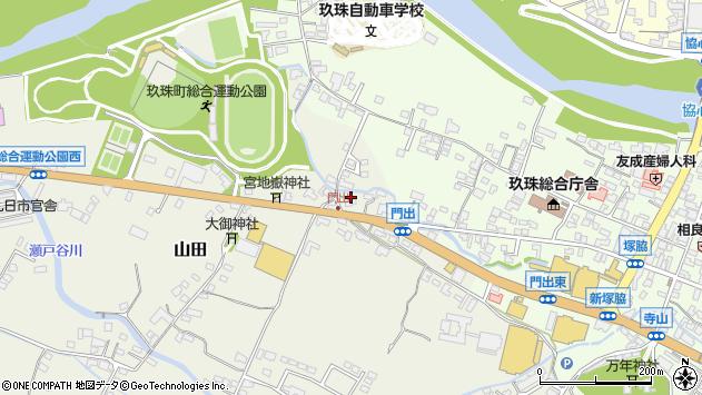 大分県玖珠郡玖珠町山田124周辺の地図