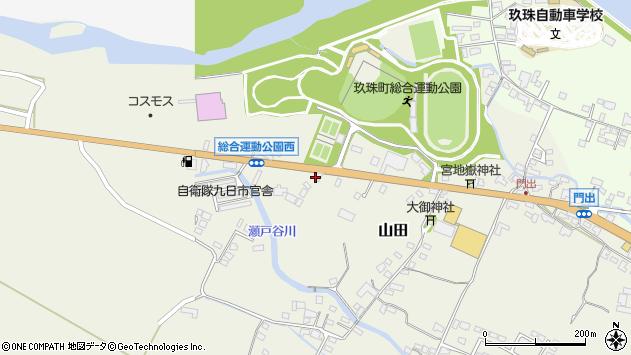 大分県玖珠郡玖珠町山田187周辺の地図