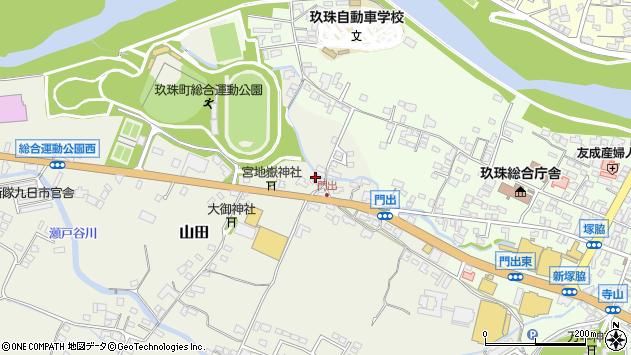 大分県玖珠郡玖珠町山田127周辺の地図