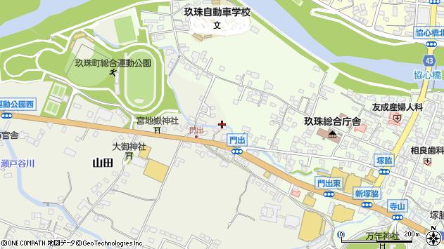 大分県玖珠郡玖珠町山田117周辺の地図