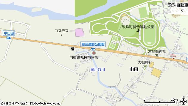 大分県玖珠郡玖珠町山田194周辺の地図