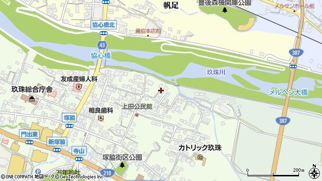 大分県玖珠郡玖珠町塚脇361周辺の地図