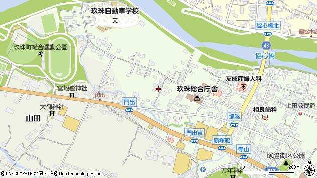 大分県玖珠郡玖珠町塚脇98周辺の地図