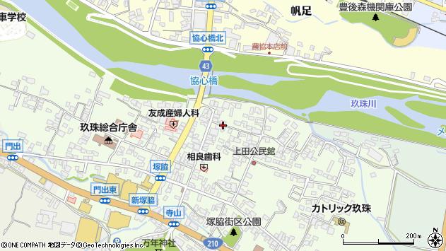 大分県玖珠郡玖珠町塚脇340周辺の地図