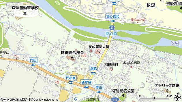 大分県玖珠郡玖珠町塚脇124周辺の地図