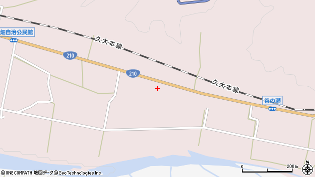 大分県玖珠郡玖珠町戸畑886周辺の地図